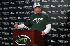 Rex Ryan addresses media following practice